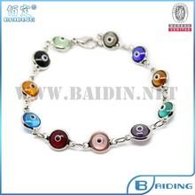 2014 tennis design fashion turkish smart evil eye chain bead bracelet