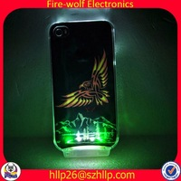 ON/OFF with battery copper cell phone case LED copper cell phone case Manufacturer