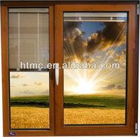 New design aluminum sliding windows match window internal blinds and curtain