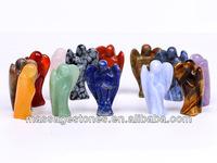 crystal engraved angels rose quartz/amethyst/bamboo agate