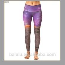 88% Polyester +12% spandex sublimation printing yoga leggings