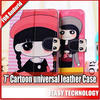 cute case for 7 inch tablet pc cartoon cute leather cover new arrivel for ipad mini case