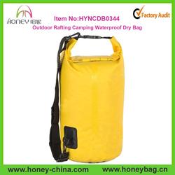 Outdoor Rafting Camping Dry Bag Yellow 15L Waterproof Dry Bag