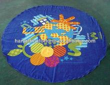 velvet reactive print round beach towels