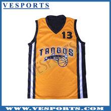 Sublimated basketball warm up shirts custom