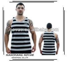 Work out men originals striped tank top shirt high quality
