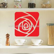 De haute qualité décorative rouge mur papier autocollant pour cuisine
