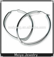 Wholesale fashion stainless steel big oval hoop earring findings