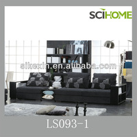 Chinese home furniture Sectional modern sofa sets with bookshelf