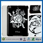 C&T Fresh arrivel flower graphics new design for ipad mini pu case