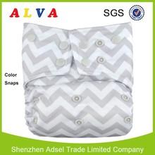 2015 Alva Waterproof Colorful Snaps Diapers Organic Cloth Nappies