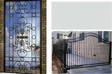 wrought iron small gate / metal small door for villa garden estate