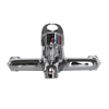 South Africa market Double-lever brass body zinc handle chrome plated bathroom faucet mixer tap sanitary ware