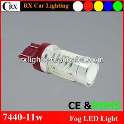 High power 11W 7440 7443 COB brake reverse stop turn led lamp car