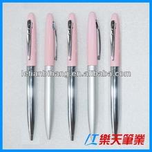 LT-W390 New slim metal pen twist ball pen with laser logo