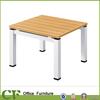 Steel legs and wooden top Low Tea table