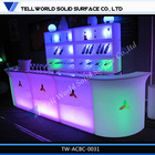 2014 TW Modern commercial bar counter outdoor plastic led cocktail bar design