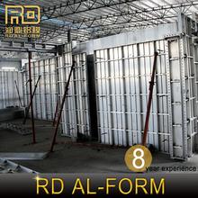 Rd marque chine fabricant profil en aluminium dessin coffrage