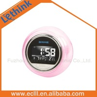 7 color light sphere alarm clock with nature sound