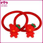 Posh resin red bear hair ornaments for children
