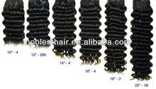 wholesale 7 aaaaaaa brazilian virgin hair deep wave #1 #2 #4 #6 #613 natural color double draw 4oz 100g light yaki loose wavy n