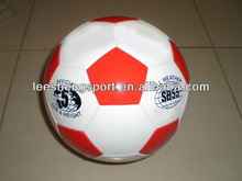 Cheap promotional machine sewn high quality pvc leather football soccer
