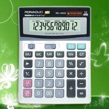 electronic business card holder 12digits calculator Large display dual power office desktop calculator