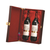 luxury matt lacquer real wood wine box for red wine