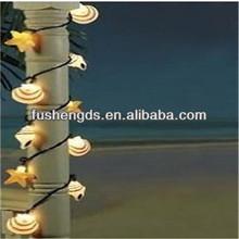 christmas decorative light 2014 new products of Seashell Beach Patio Light String - Surfer Tiki Decor mini led lights for crafts