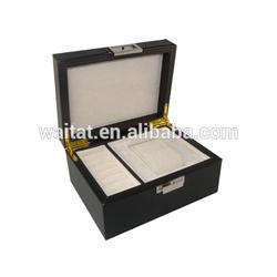 Lady Wrapped PU Cosmetic Wood Box