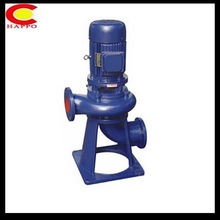 Non-clogging submersible vertical centrifugal immersion pumps