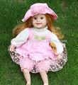 22 polegadas bonito inteligente bebê brinquedo da boneca, bonecas look real, menina linda bebê brinquedo da boneca