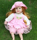 22inch beautiful Intelligent baby doll toy,baby dolls look real,lovely girl baby toy doll