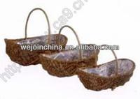 Plastic Lined Wicker Basket