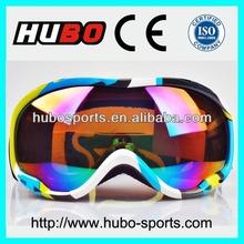 Water UV400 elastic strap custom logo snow goggles with CE
