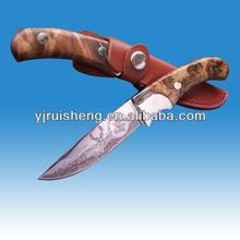 Haute qualité de formation couteaux avec manche en bois de ronce