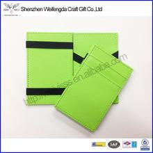 Fashion Wholesale Colorful Delicate PU Leather Magic Money Wallet