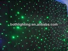 dmx Green color 4X6m led star dj light cloth truss back drop stage curtain light