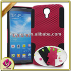 Double color of black/red hybrid mesh combo case for samsung galaxy i9200