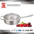 24cm novo produto açoinoxidável frigideira com fundo da cápsula