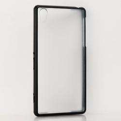 for sony xperia z2 bumper, matte back silicone bumper case for sony xperia z2