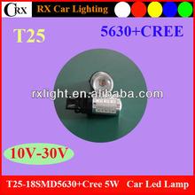 5W cree + 18smd 5630 T20 W21-5W W21W 12V Lighting