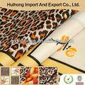 La hermosa leopard impreso SHAOXING KEQIAO CHINA 100% poliéster tela impresa