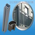 balcón barandilla barandilla jardín valla de aluminio de extrusión de perfiles para la construcción