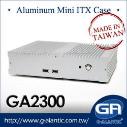 GA2300 Aluminum mini itx fanless Computer case