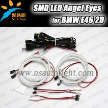 Led Angel Eyes 102 pcs 3014 SMD Leds Each Ring , High Quality Led Ring Light for BMW E46 2D