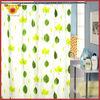 Green Maple Leaf Bath Curtain For Bathroom Window