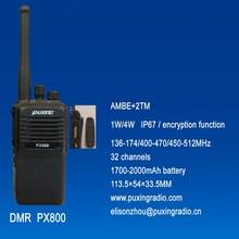 IP67PUXING professional DMR radio PX-800 AMBE+2TM encryption