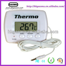 Max Min household digital C/F selectable refrigerator thermometer with external temperature sensor and probe