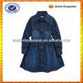 özel çocuk kot elbise/kot elbise/Çocuk kış denim elbise toptan